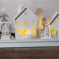 batteriebetriebenes LED Weihnachtshaus für mit 10 LEDs