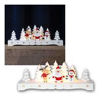 LED candlestick Rudolf | wood, timer | battery operation