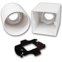 Kunststoff-Aufbau-Rahmen weiß für MR16-Spots