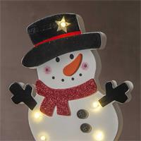 LED Fensterleuchter mit Timerfunktion, weihnachtliches Motiv