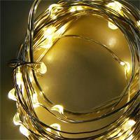 LED Weihnachts-Lichterkette mit 50 LEDs, Leuchtfarbe warmweiß