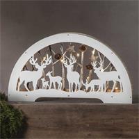 weißer LED Fensterleuchter mit warmweißem Lichtschein