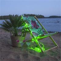 LED Dekobeleuchtung Tuby, grün, Batteriebetrieb und Timer