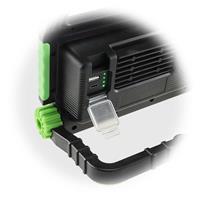 LED Baulicht mit Anschlussmöglichkeiten für monbile Geräte