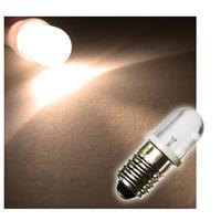 1x E10 LED light bulb | screw socket |warm white | 12V DC
