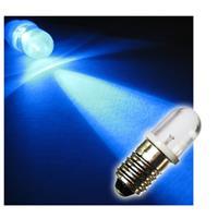1x E10 LED light bulb | screw socket | blue | 10mm lens