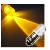 1x E10 LED light bulb | screw socket | yellow | 12V DC