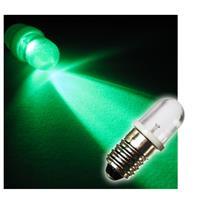 1x E10 LED light bulb | screw socket | green | 12V DC