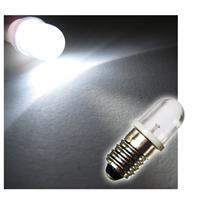 1x E10 LED light bulb | screw socket | white | 10mm lens