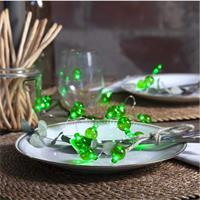 LED Batterielichterkette mit 20 LEDs in grünen Kugeln
