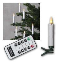Kabellose LED Christbaumkerzen | Kerzen & Fernbedienung