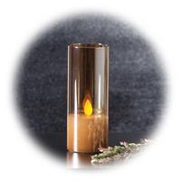 LED Kerze mit Automatikmodus, Glasdurchmesser 5cm, verschiedene Höhen