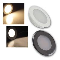 LED downlight | 2 light colours | 230V/2W | flat, H: 22mm