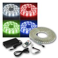 RGB LED-Strip 5m Set RGB-500 RF, Funk-Fernbedienung