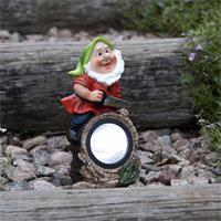 LED Figur Gartenzwerg, 9,5x21cm, IP44, kaltweiß