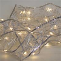 LED Schleifenband silber, warmweiße LEDs, für den Innenbereich