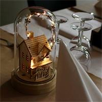 LED Dekoration Kupol mit winterlichen Motiv, Höhe 20cm