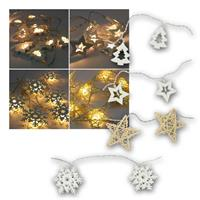 LED fairy lights winter motifs | warm white, battery, timer