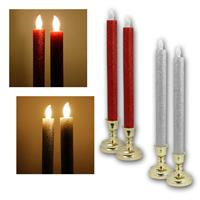 LED sticks with base | LED decorative candles in a pack of 2