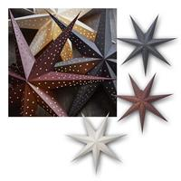 Paper Star Point Ø60cm | LED Christmas star for indoor