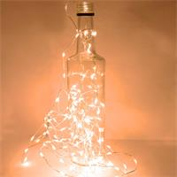 LED Draht-Lichterkette mit warmweißen Micro LEDs