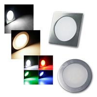 LED light EBL SLIM | alu | round/square | IP67 | 6 types