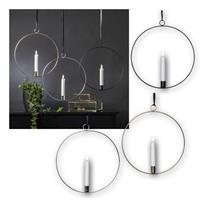 LED candle flame | with metal ring Ø 28cm, for hanging