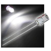 10 LED, 5mm, white crystal clear concaved lens