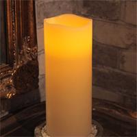 LED Stumpenkerze mit warmen Lichtschein, Höhe 25cm