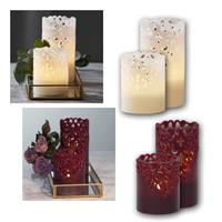 LED Wax Candle CLARY | LED jewelry candle, timer | indoor