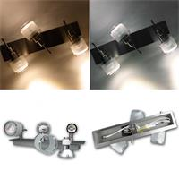 Design Wand/Deckenleuchte inkl. GU10 LED Leuchtmittel