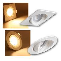 LED downlight ARME round/square | warm white, 230V/ 5W