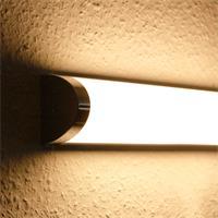 LED Badleuchte mit warmweißem Licht, unterschiedliche Helligkeiten