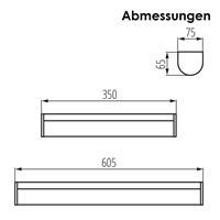 LED Beleuchtung für Feuchträume für Wand- oder Aufsatzmontage