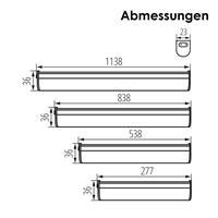 schmale LED Beleuchtungen für Innenräume, steck- und verlängerbar
