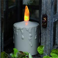 LED Outdoor-Kerze mit Kunstflamme und Flackereffekt