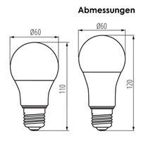 LED Energiesparleuchte für Lampen mit E27 Fassungen
