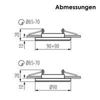 Einbaurahmen mit stabilen Halteklammern für festen Halt