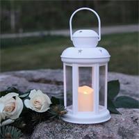 Außenlaterne mit LED Kerze und Timerfunktion