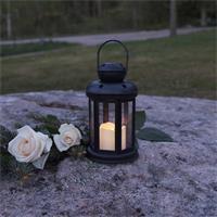 Grabbeleuchtung aus Kunststoff mit LED Kerze, Timer