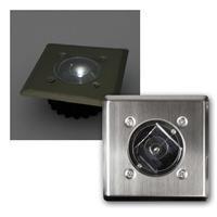 LED Solar Bodenleuchte LSB-05 | eckig, kaltweiß | 2 Stück