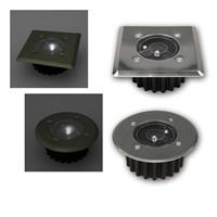 LED solar recessed floor light | angular/round | cool whit