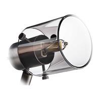 LED Leuchte mit Lampenschirm aus Rauchglas, dreh- und schwenkbar
