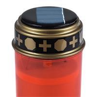 Batteriebetriebene LED Grabkerze mit flackernder Flamme