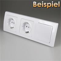 Abdeckrahmen 3-fach leicht kombinierbar mit Produkten der DELPHI-Serie