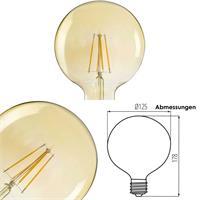 Filament Lampe, E27 Retro Birne ST64