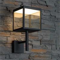 moderne Aluleuchte für den Außenbereich mit warmweißen LEDs