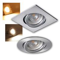 LED downlight EVIT IQ-LED GU10, LED spotlight, round /square