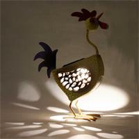 LED Figur Henne, Solar LED Leuchte FRIDA, warmweiß