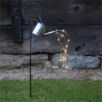 LED Gartendeko mit Solarpanel und Dämmerungssensor